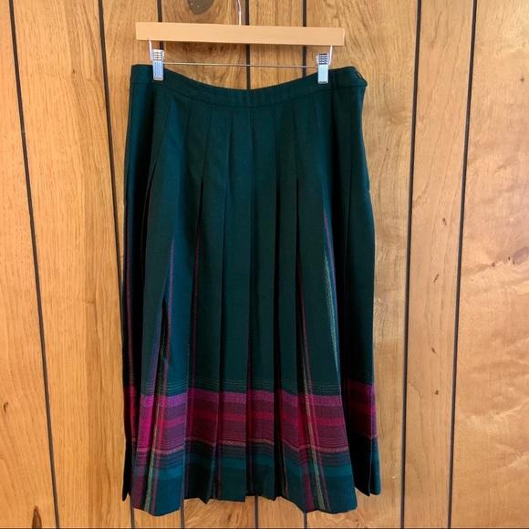 Pendleton Vintage Top Stitch Knife Pleated Skirt